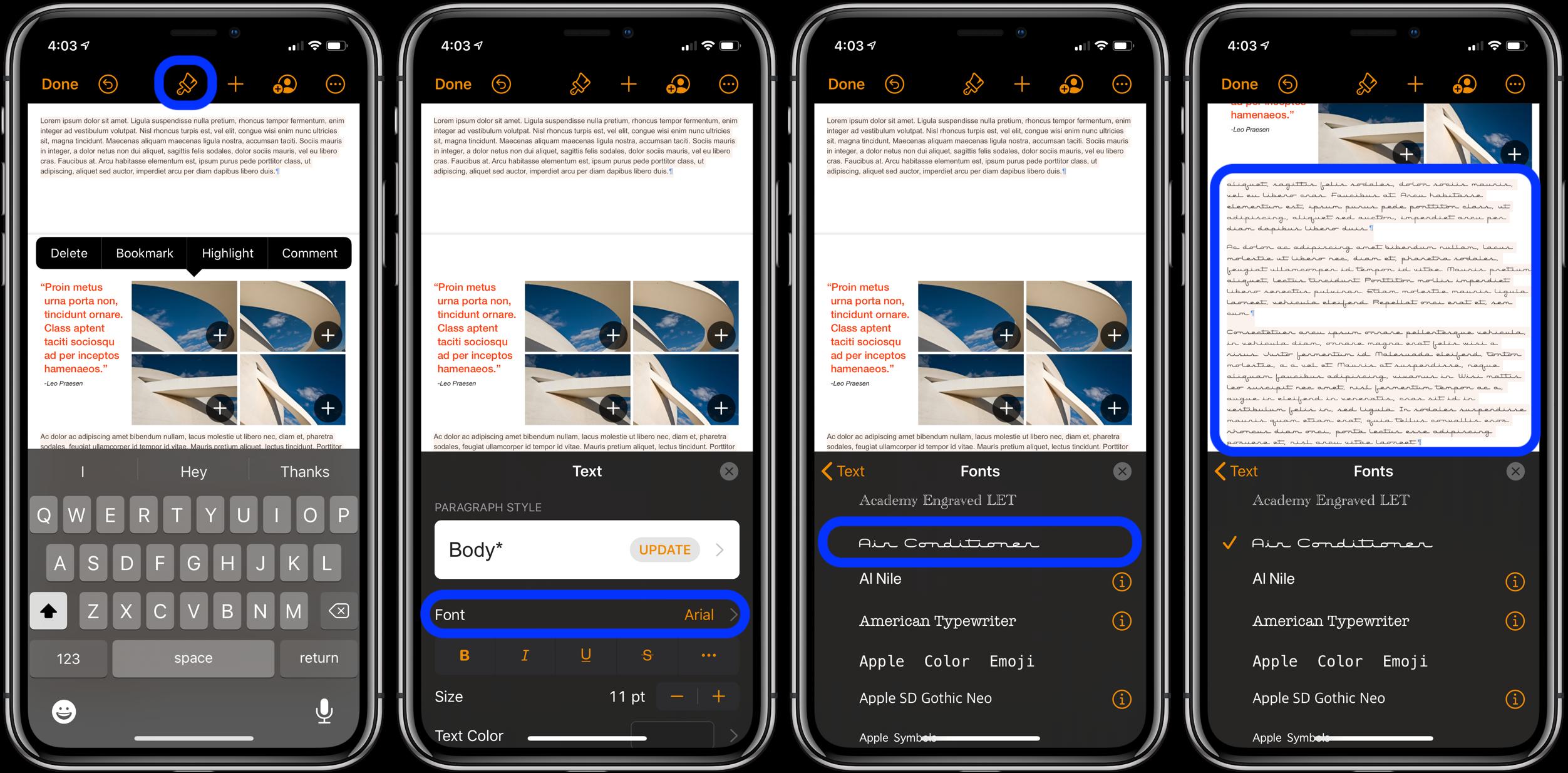 iOS 13 How to use custom fonts iPhone iPad 3
