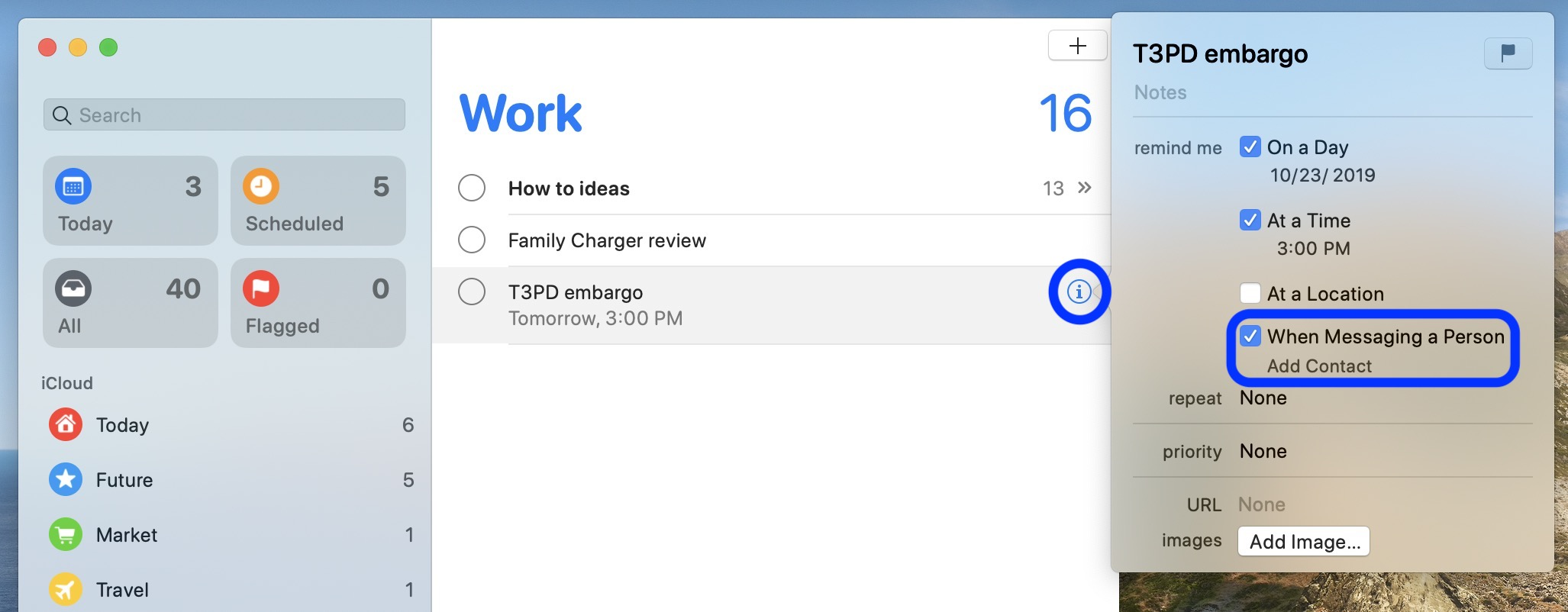 How to use reminders in messages iPhone iPad Mac walkthrough 4