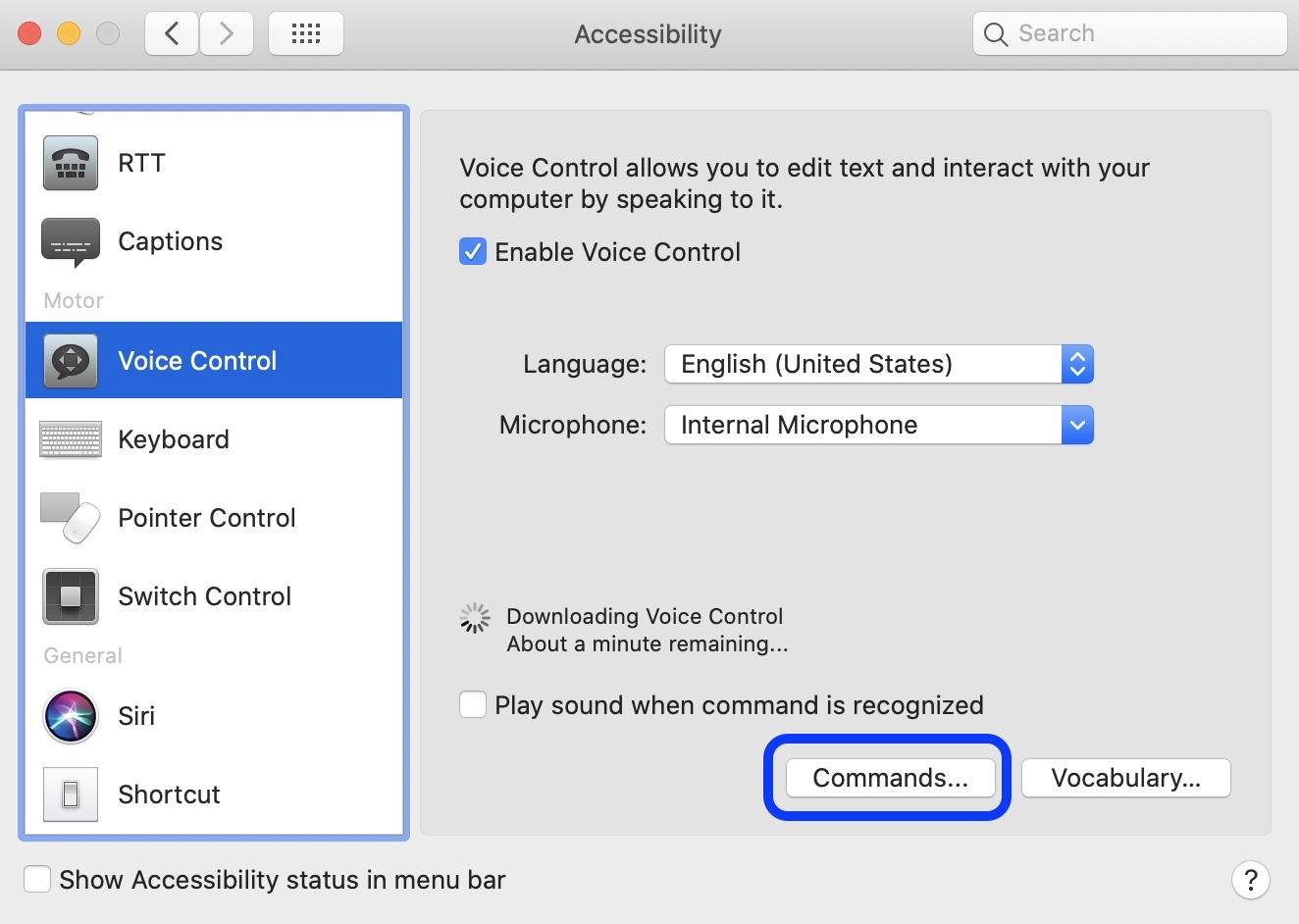 How to get started use Voice Control Mac macOS Catalina walkthrough 3