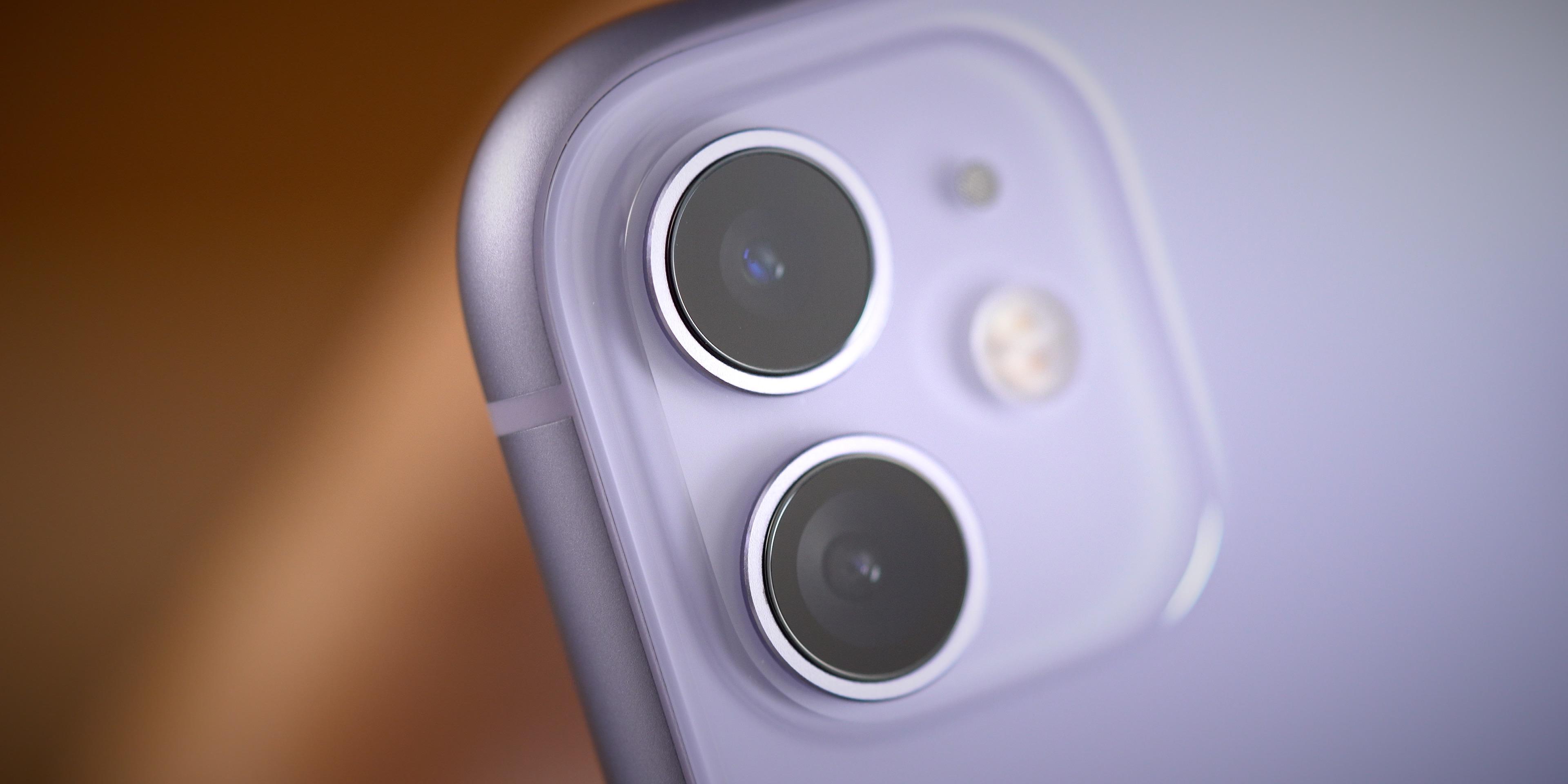 iPhone 11 dual camera up close