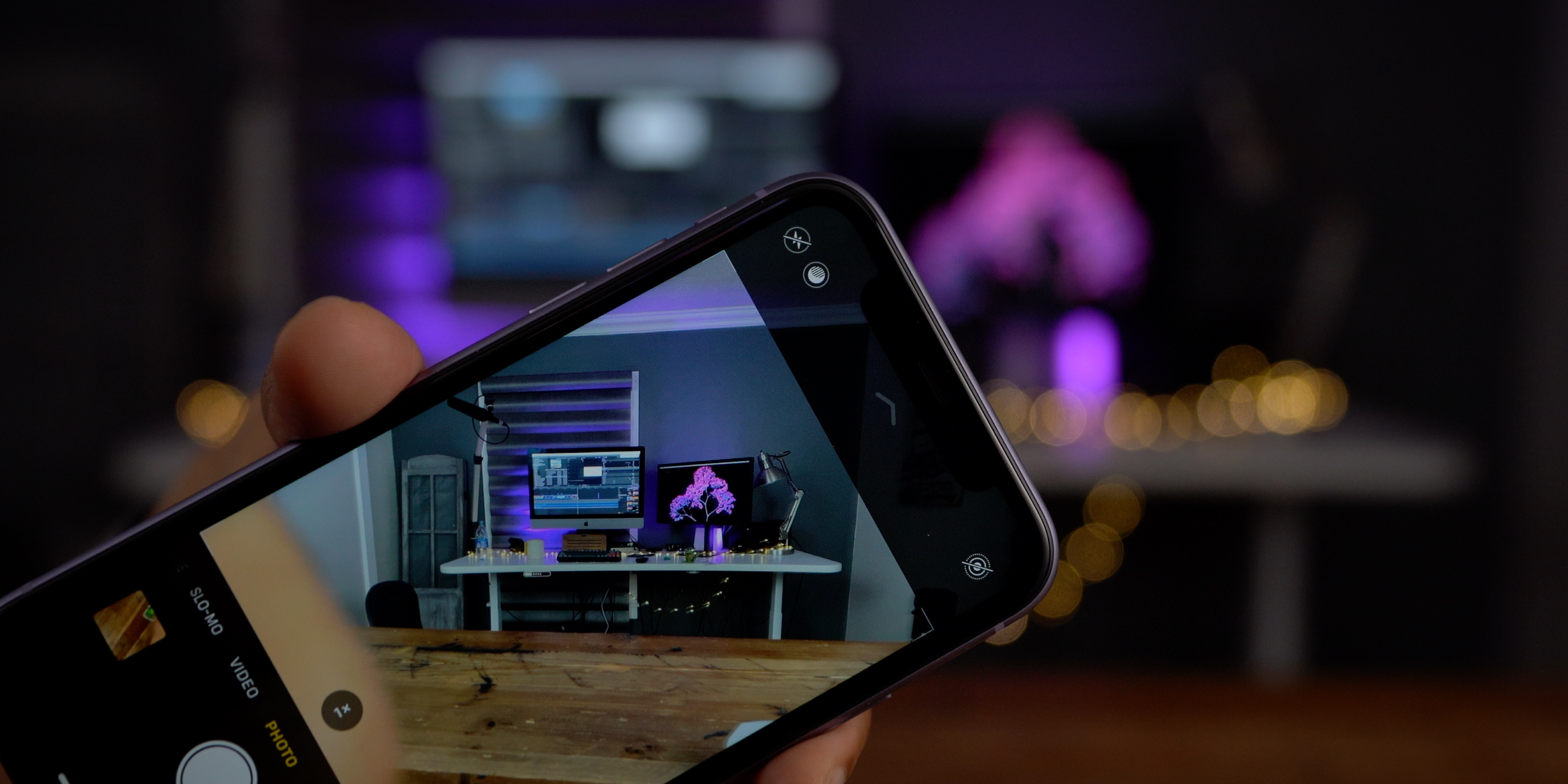 iPhone 11 camera app UI