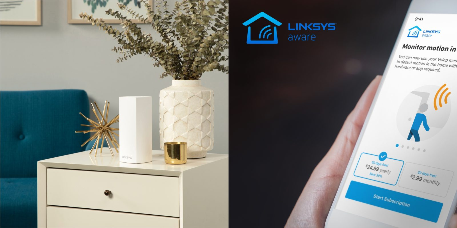 Linksys mesh routers offer whole home motion sensing w/o additional hardware