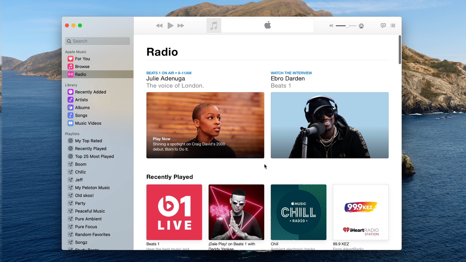 MacOS 10.15 Music app