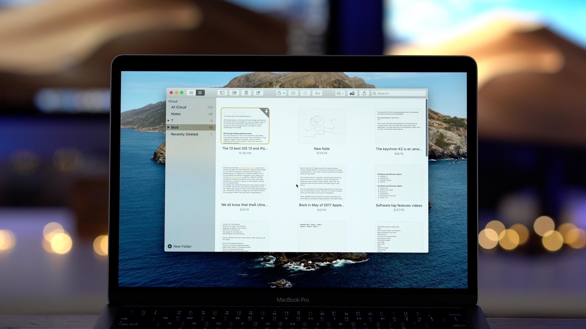 MacOS 10.15 Notes app