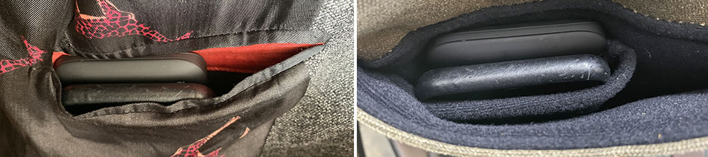 RapidX MyPort in a jacket pocket and bag