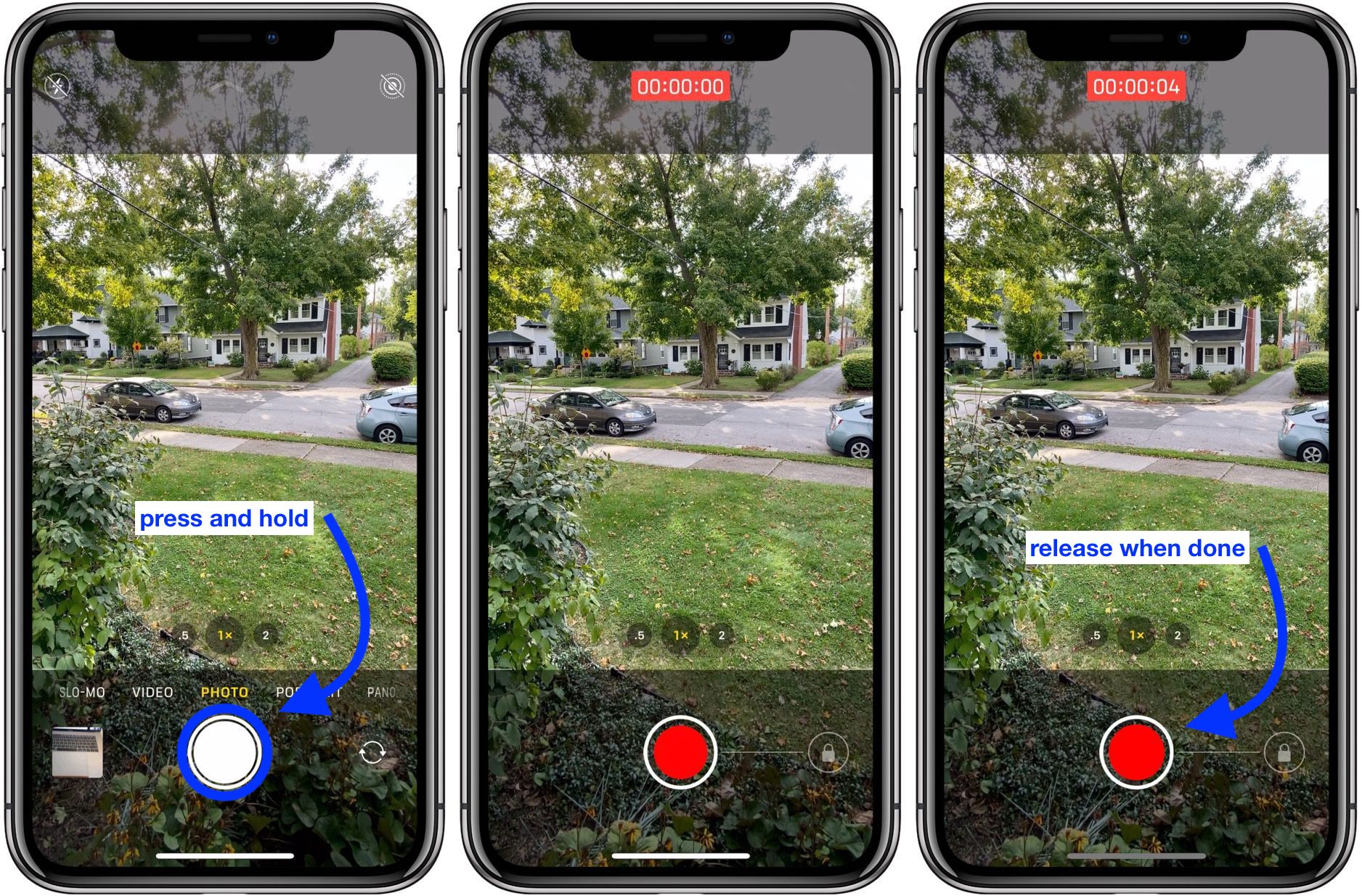 use QuickTake video shortcut iPhone 11 and iPhone 11 Pro camera walkthrough 1