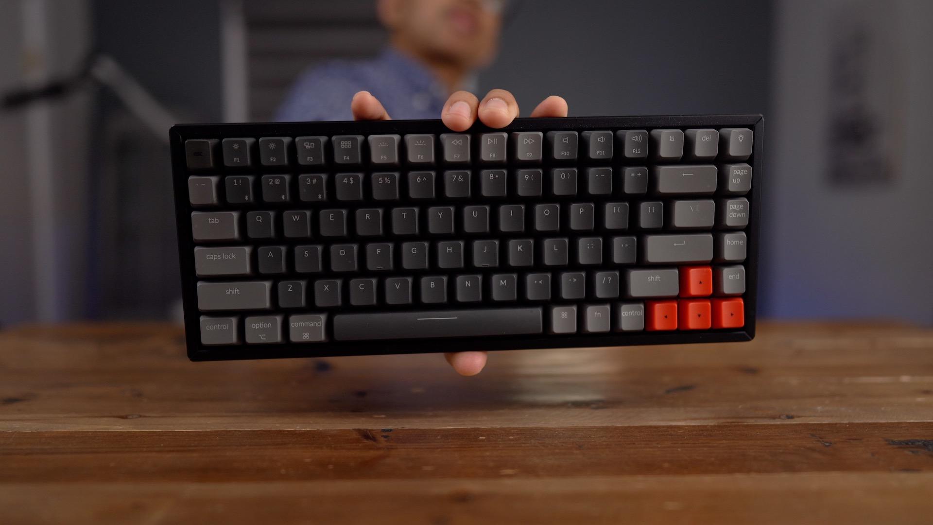 Keychron K2 in hand