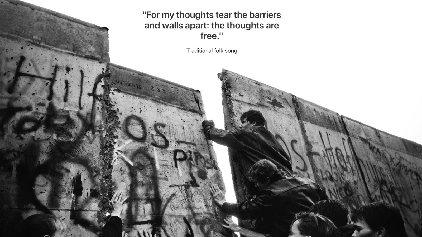 Apple marks fall of Berlin Wall anniversary with special tribute on German Apple․com
