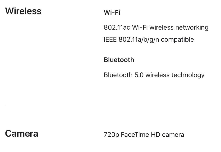 16-inch MacBook Pro lacks Wi-Fi 6