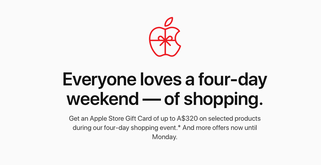 Apple's Black Friday deals go live in Australia: free gift card with select iPhone, iPad, AirPods and Mac purchases