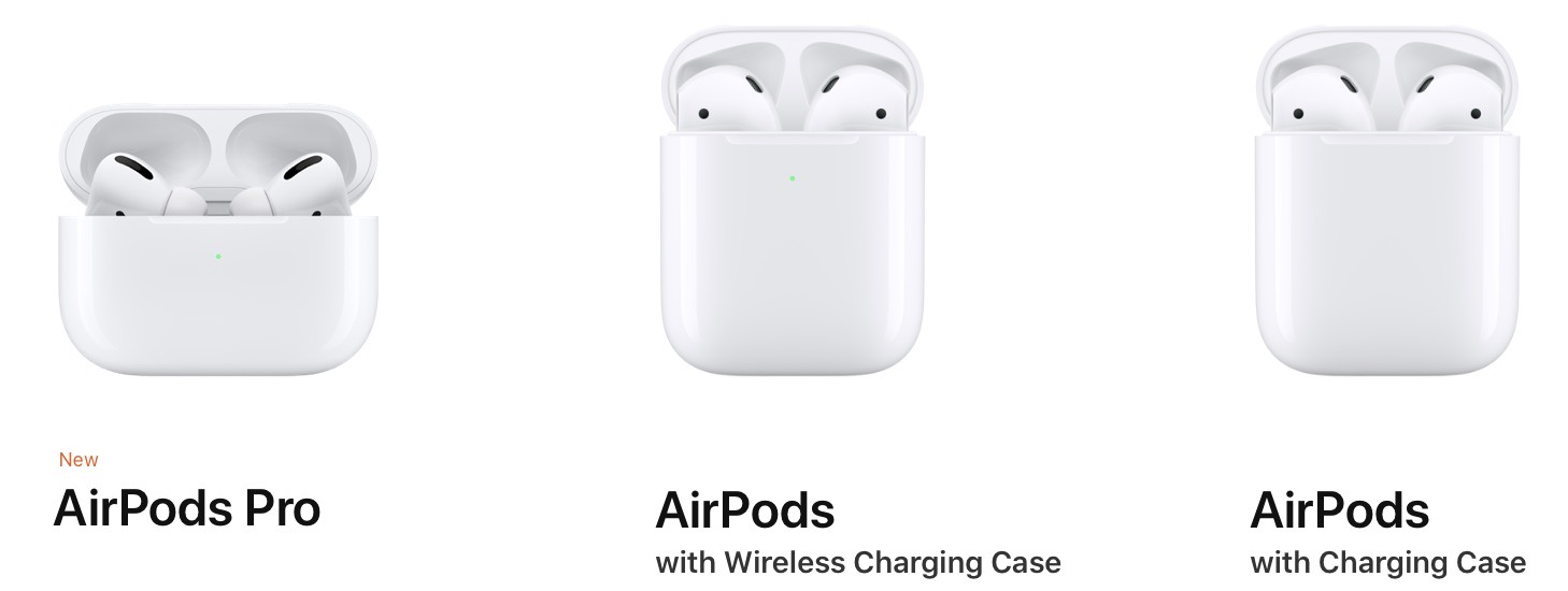 AirPods 2019 lineup