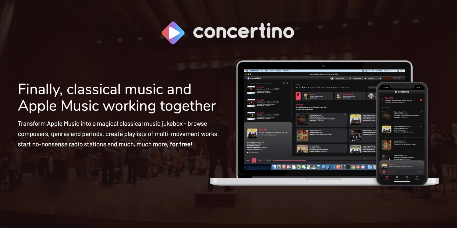 Concertino web app turns Apple Music into a 'magical classical music jukebox'