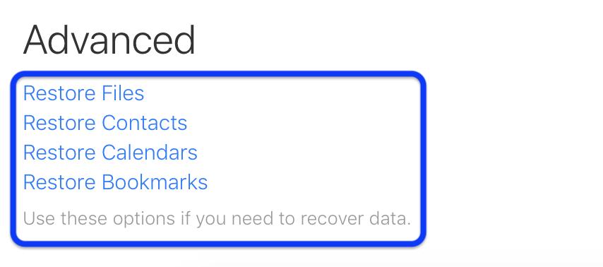 如何还原已删除的 iCloud 联系人、日历和书签?