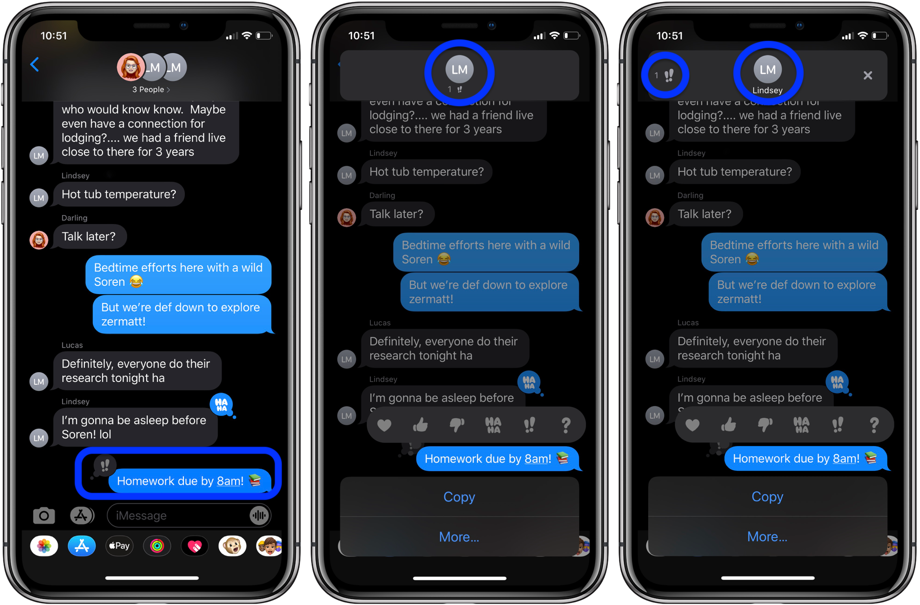 How to see who did tapbacks iMessage iPhone