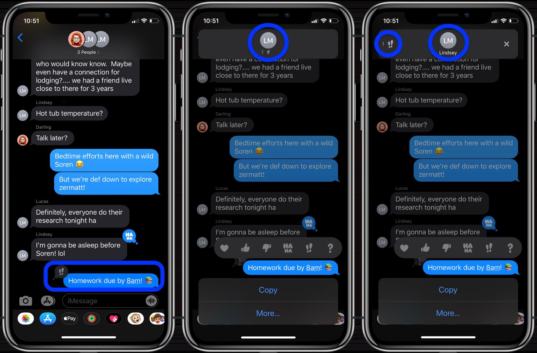 Как узнать, кто сделал откат iMessage iPhone