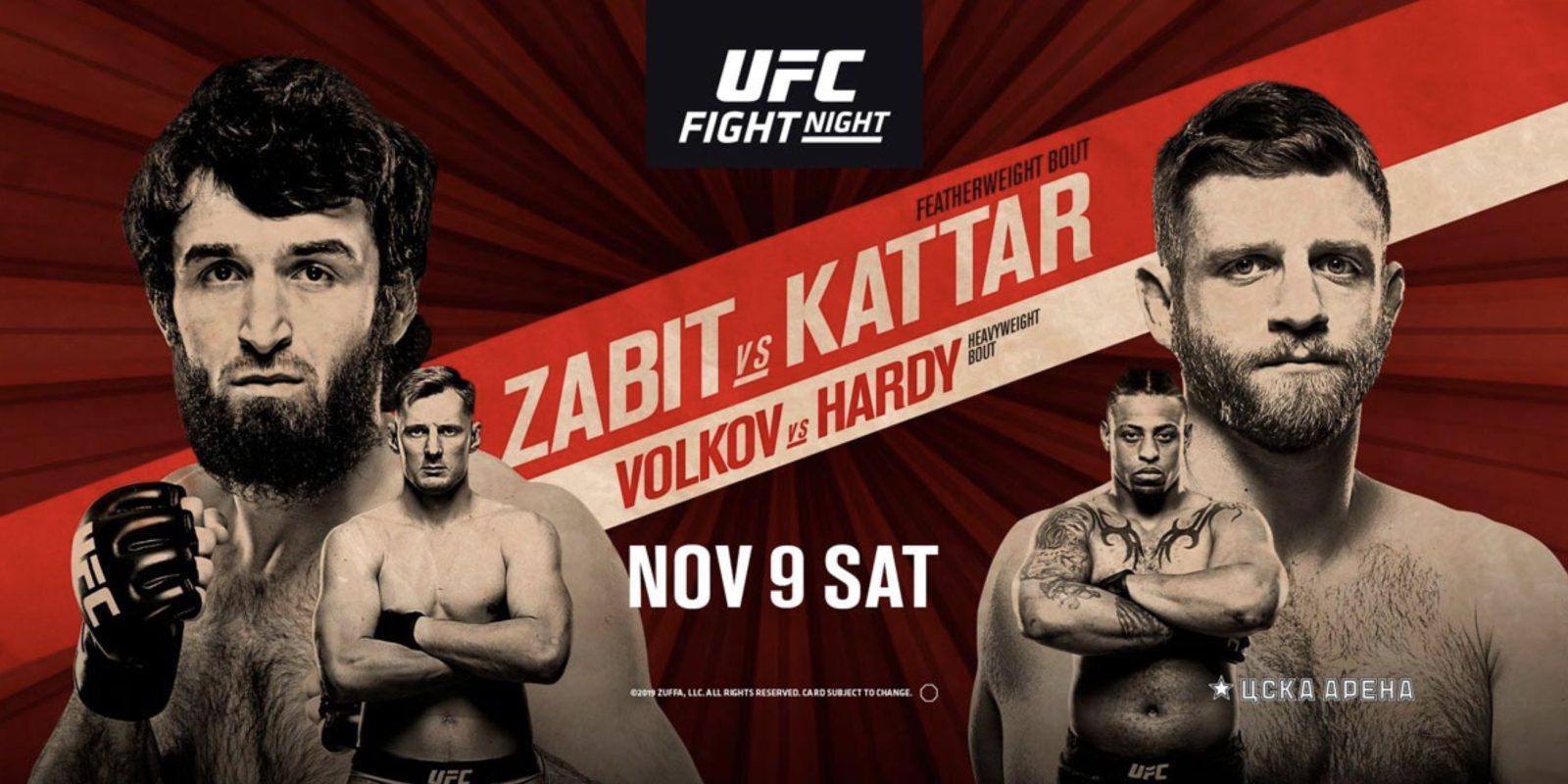 Watch UFC Fight Night 163 Zabit Vs Kattar 11/9/19