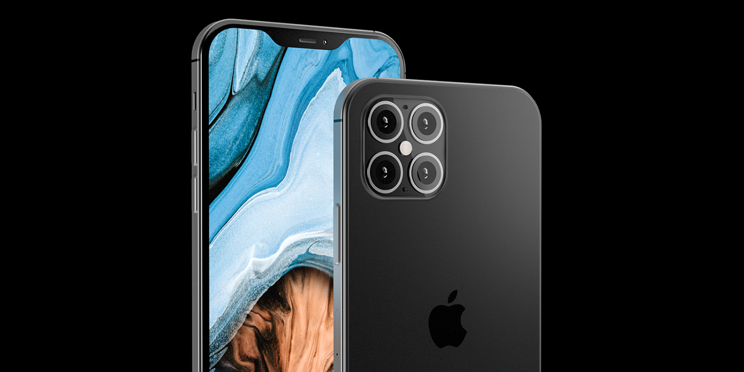 New iPhone 12 renders imagine slab sides, smaller notch, four 'cameras'