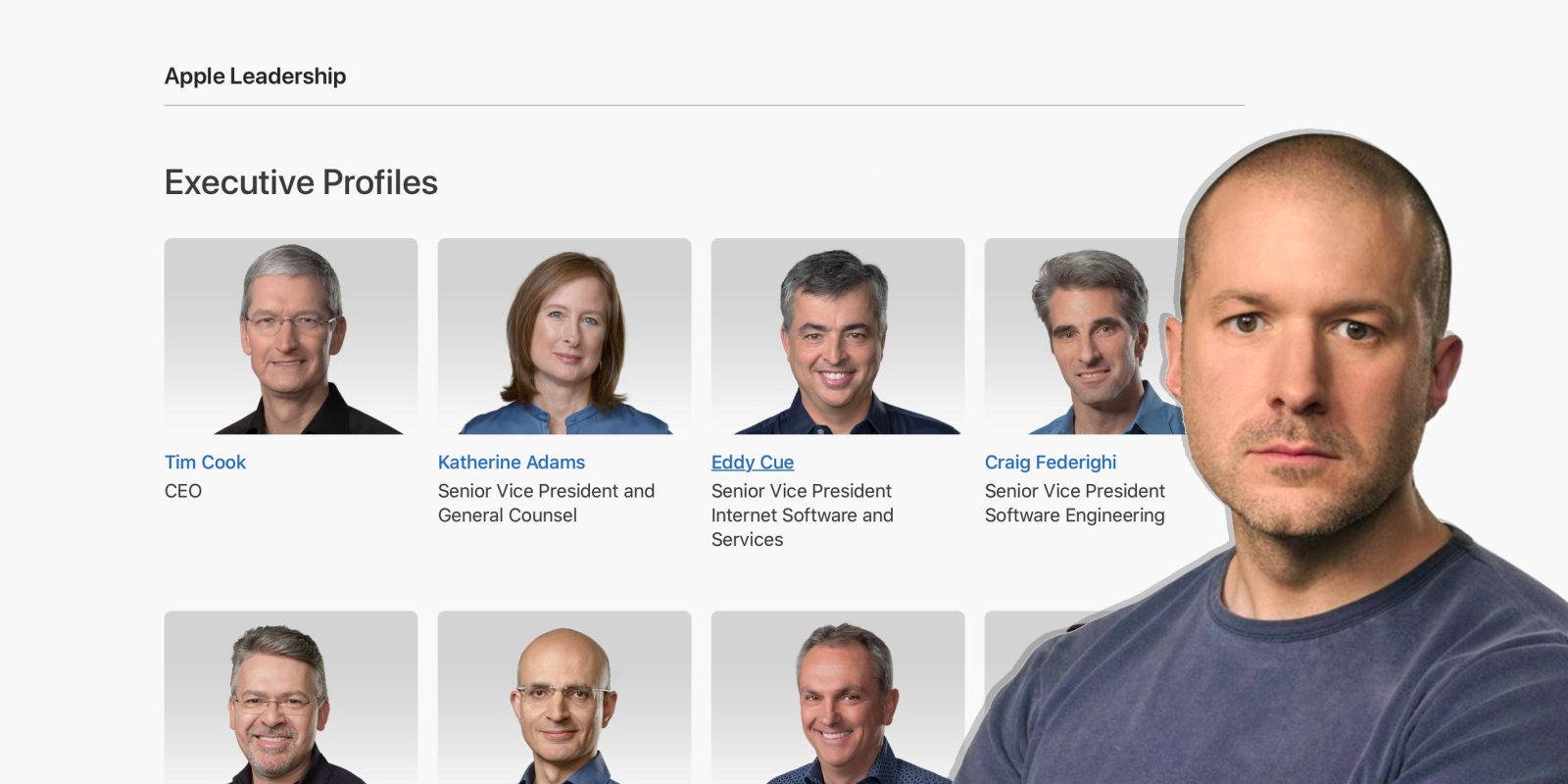 Jony Ive removed from Apple executive leadership page as he officially departs the company