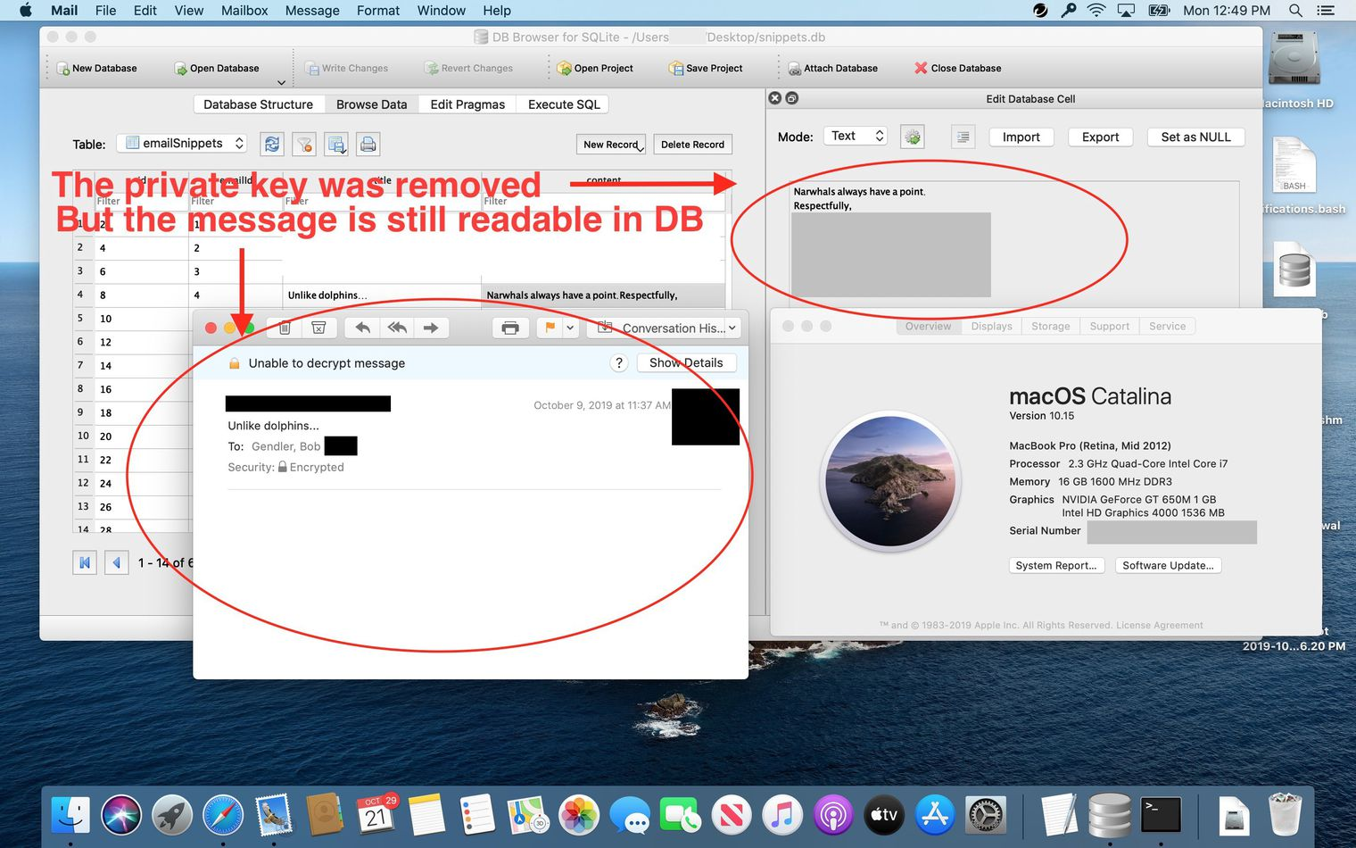 macOS encrypted email vulnerability