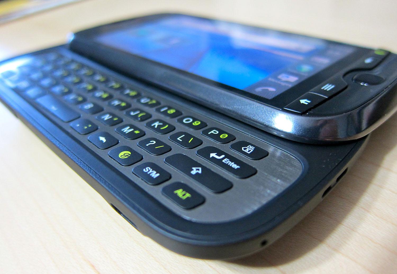Old-school sliding keyboard smartphone