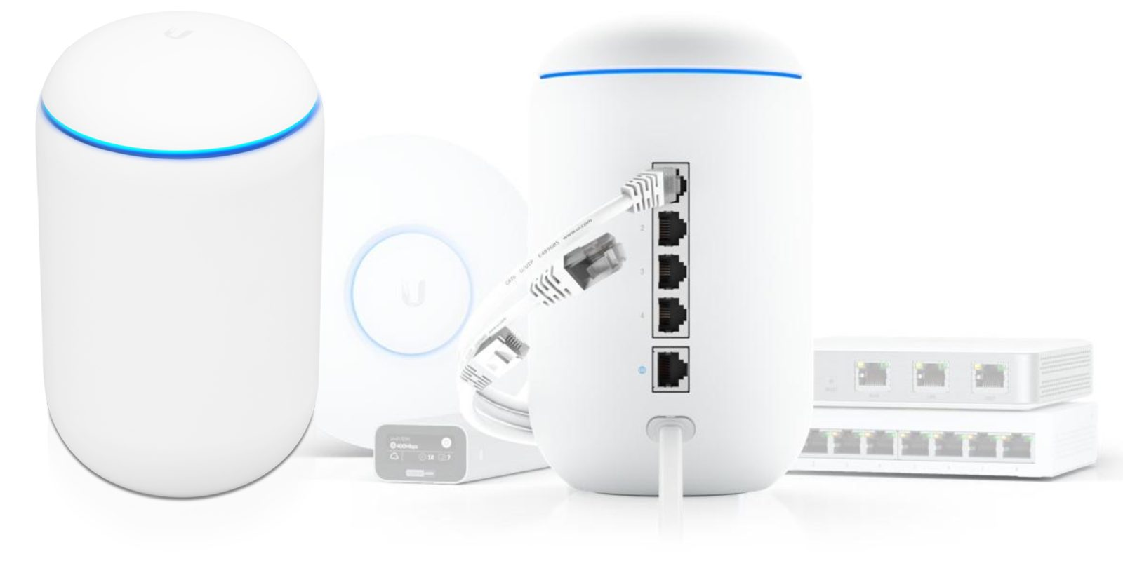 [Update: New access point too] UniFi Dream Machine blends WiFi router and Gigabit switch w/ advanced security for business or home use