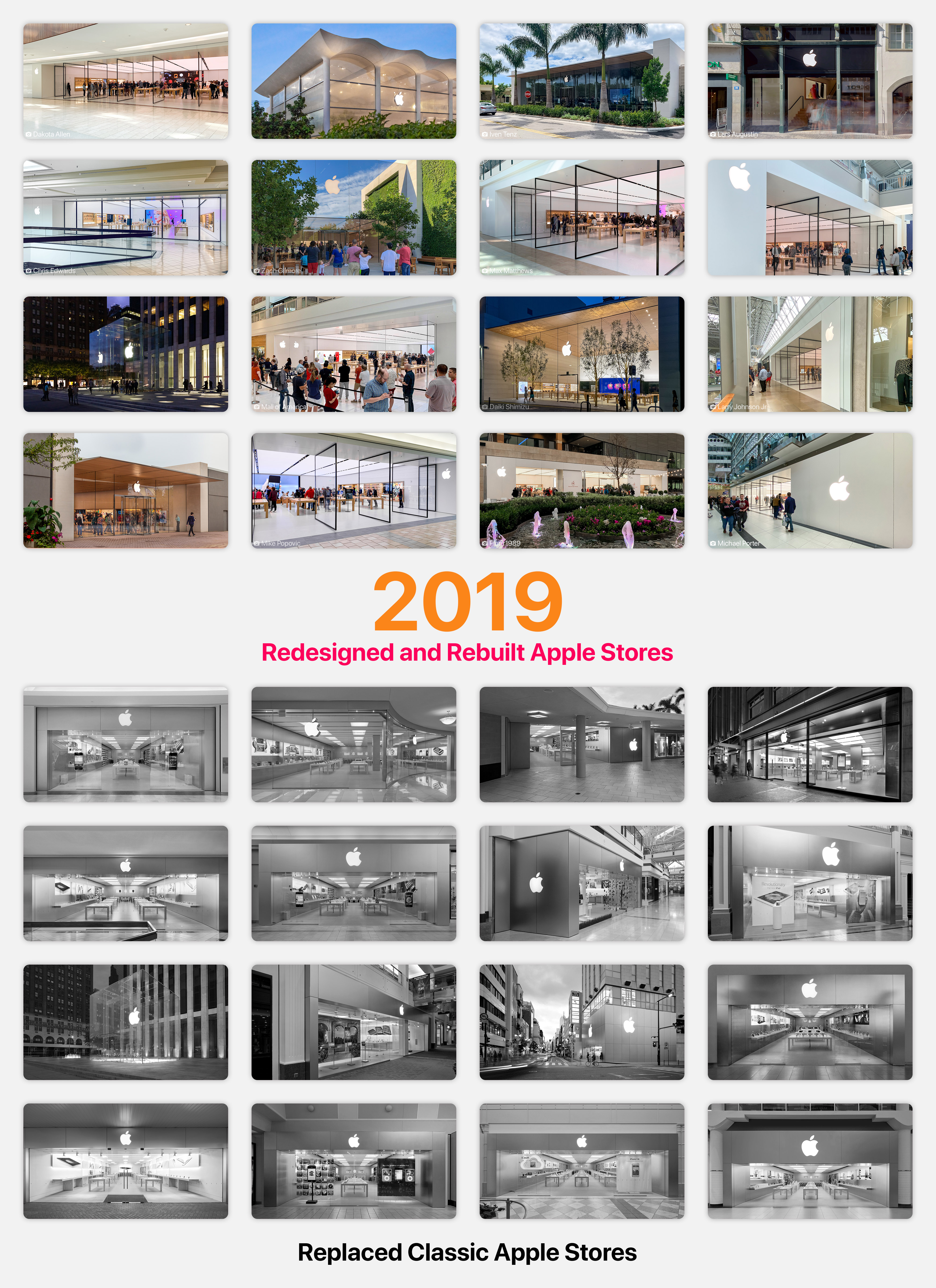 2019 Redesigned and Rebuilt Apple Stores