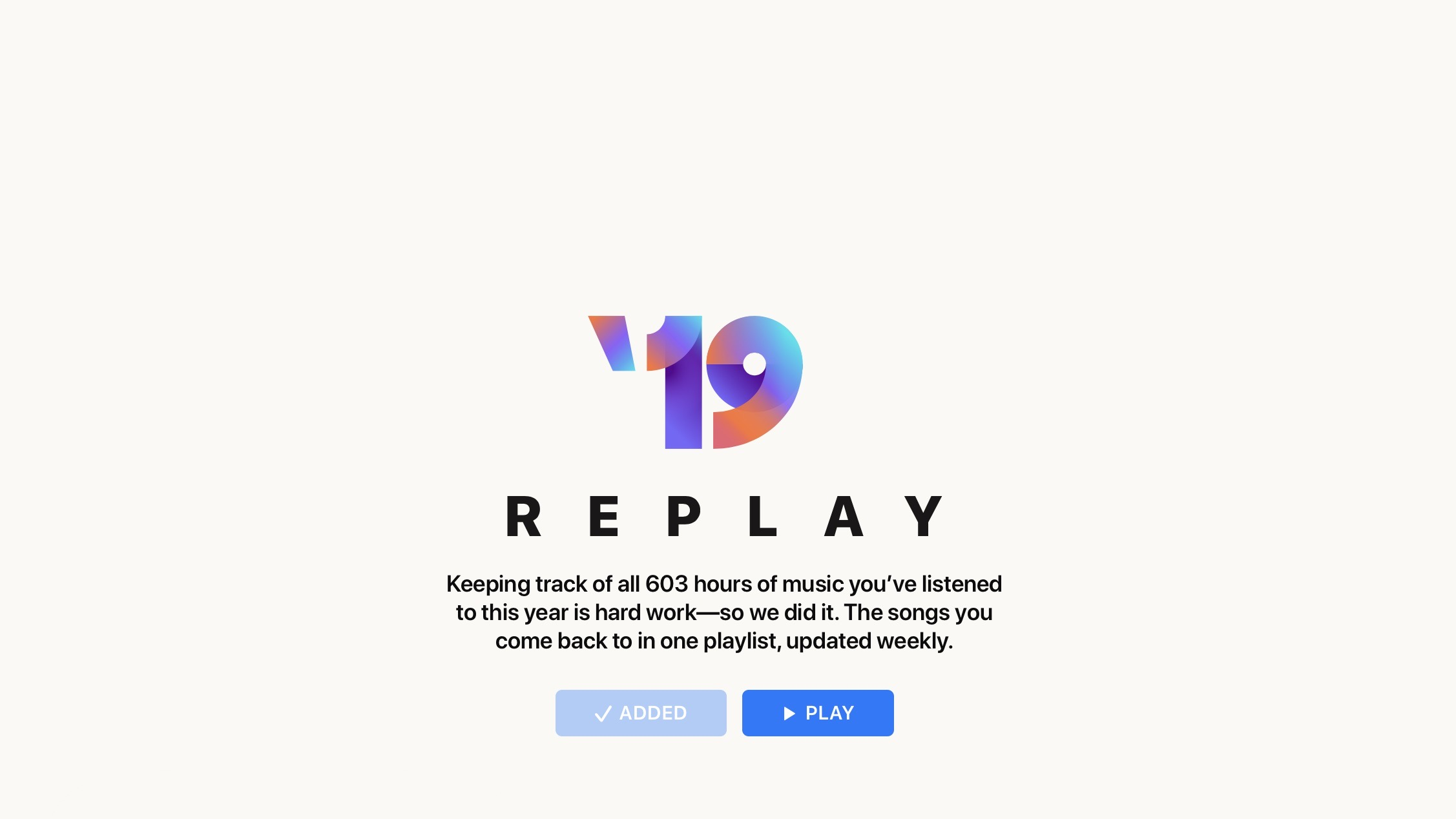 Apple Music Replay year in review