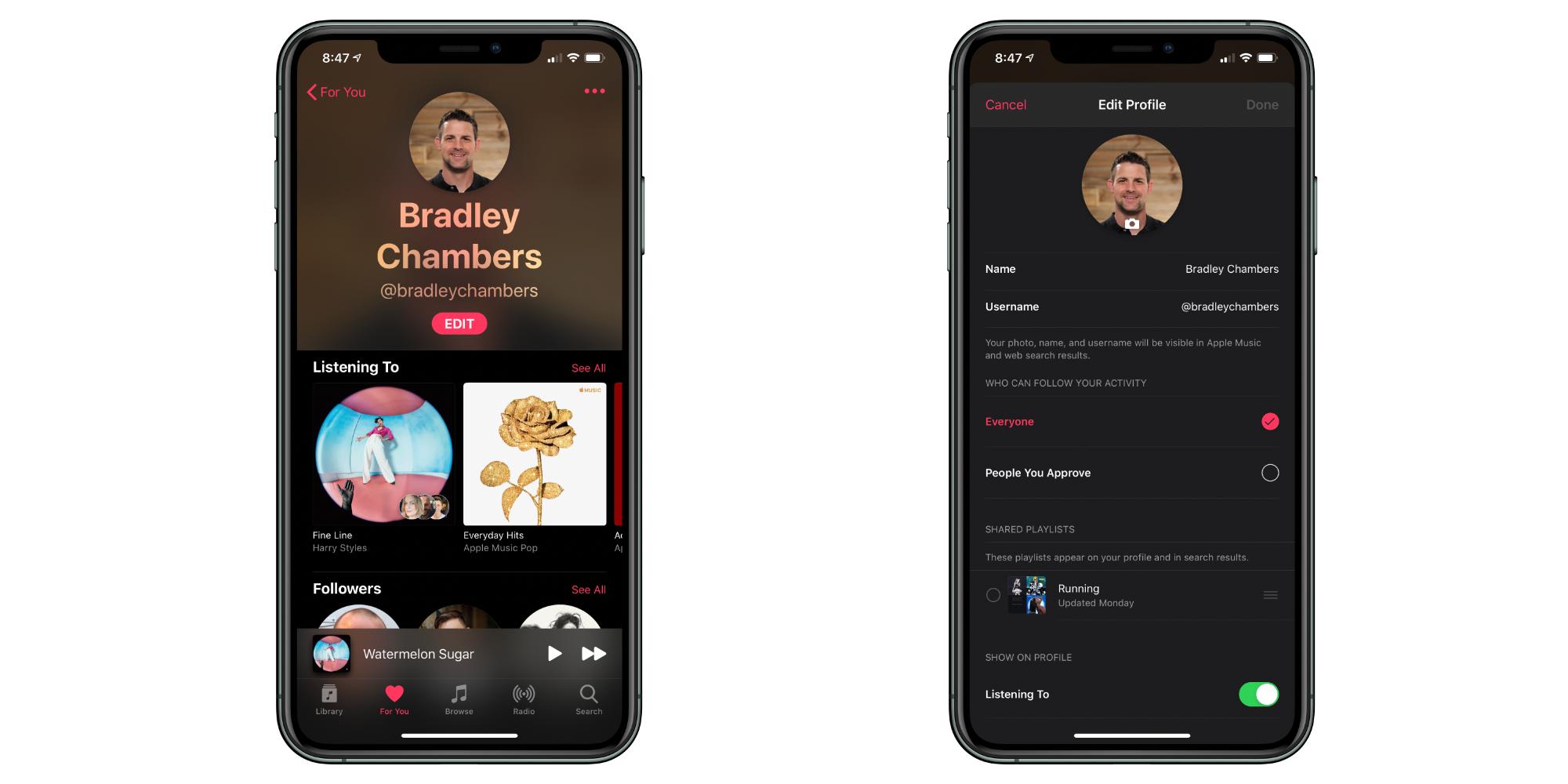 Apple Music profile