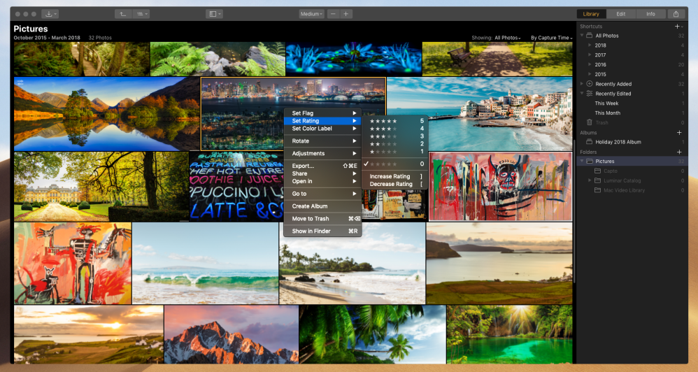Luminar 3's advanced AI photo editing features on macOS