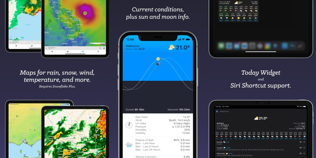 'Snowflake Weather' is powerful new weather app designed for iPhone, iPad, and Apple Watch