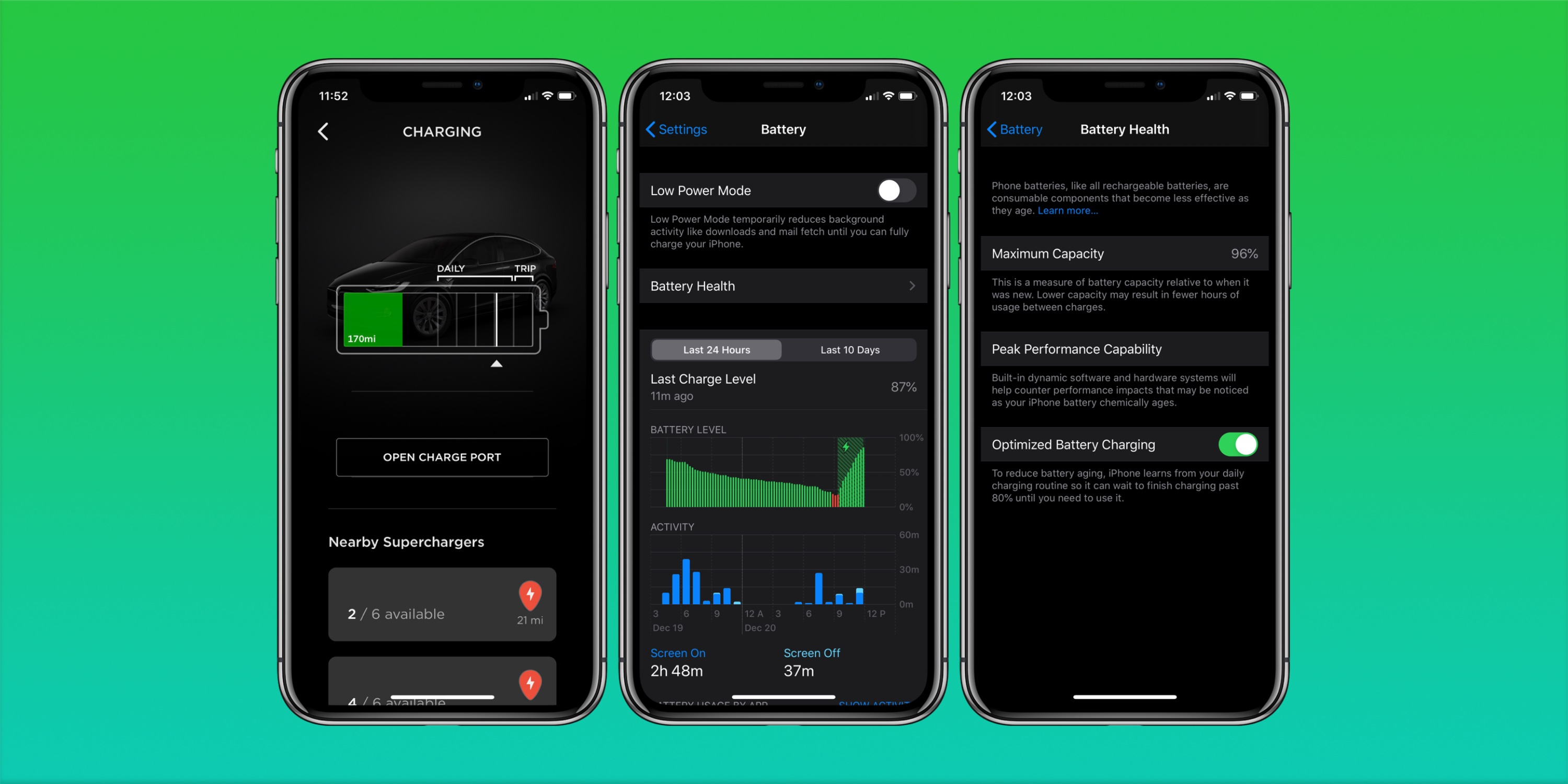 Apple Tesla battery charging feature