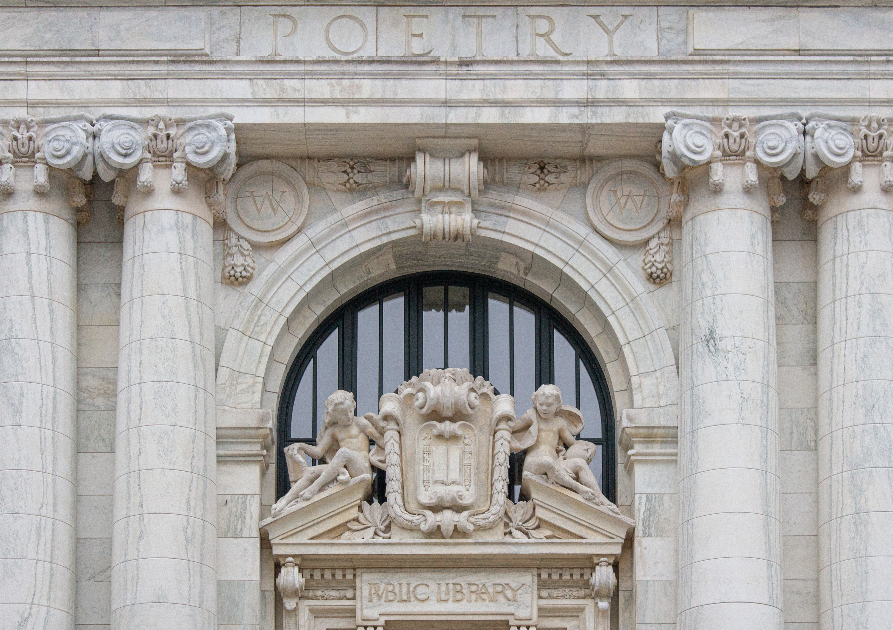 Apple Carnegie Library Entrance Detail