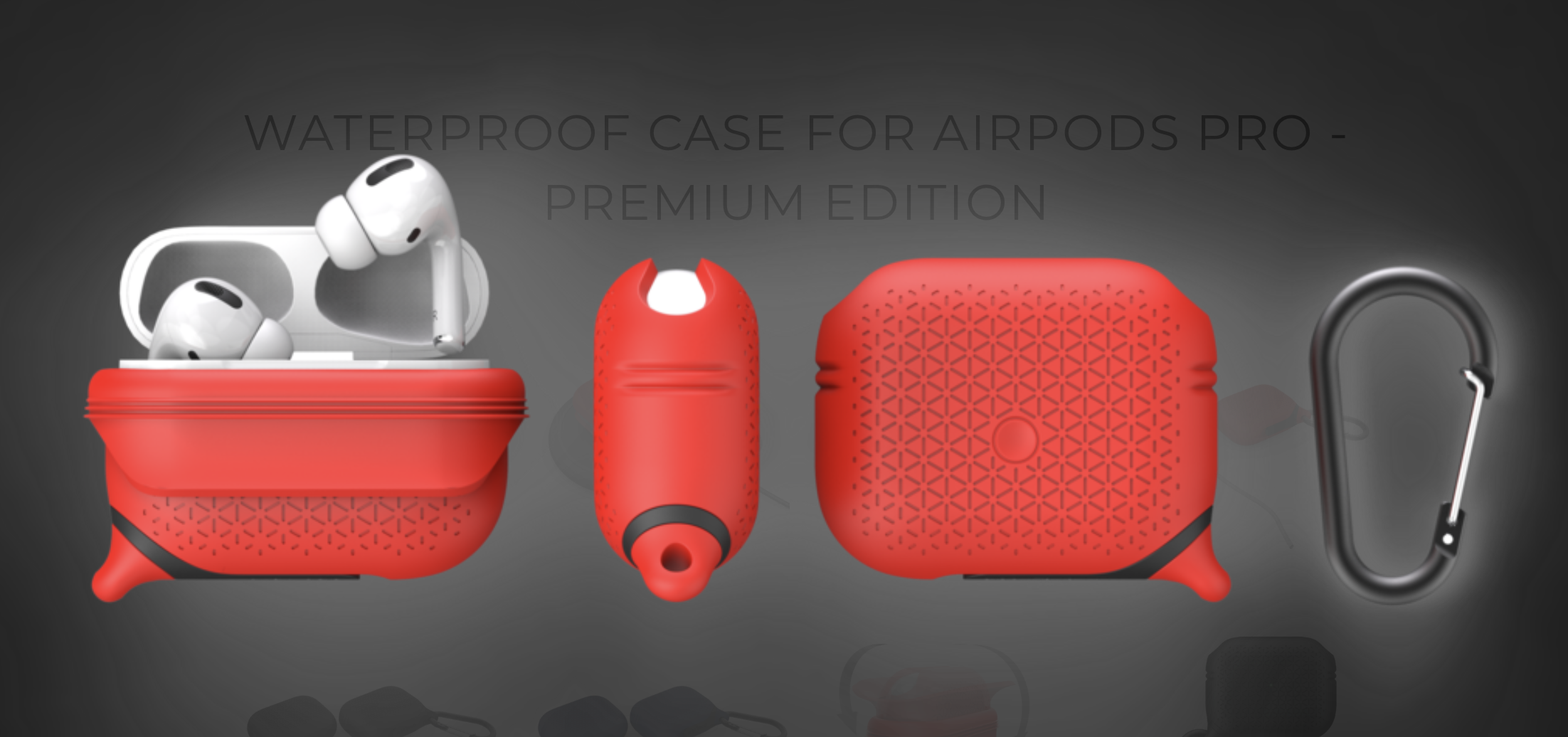 Catalyst Waterproof AirPods Pro Case in flame red