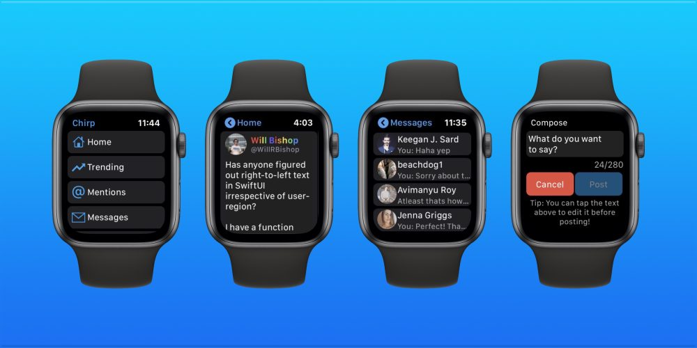 Chirp 2 for Twitter Apple Watch