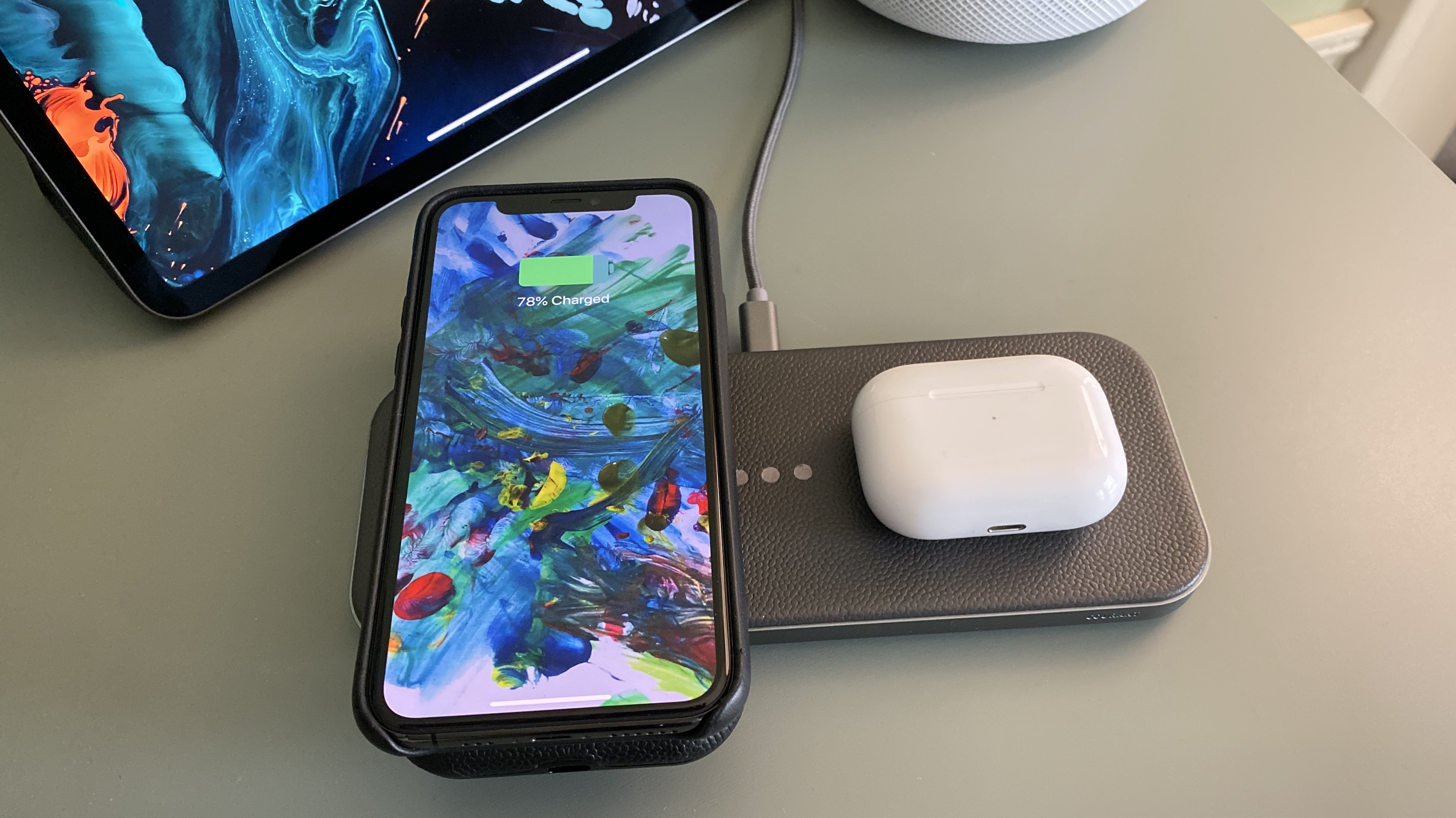 Courant Carry premium iPhone portable wireless charger stackable charging