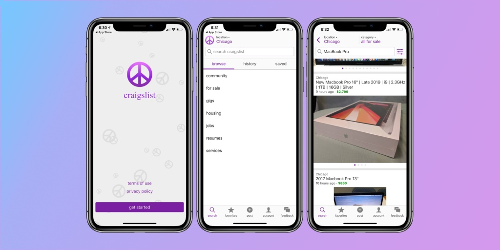 Craigslist gets official iPhone app 11 years after the App Store launched