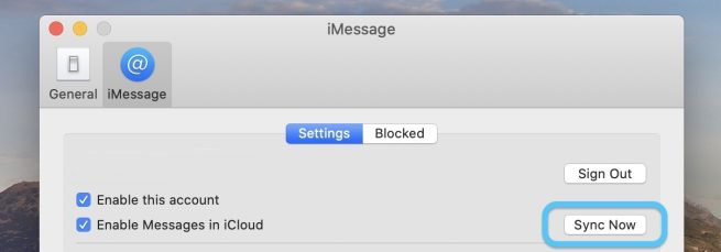 force iMessage sync iCloud on Mac walkthrough 2
