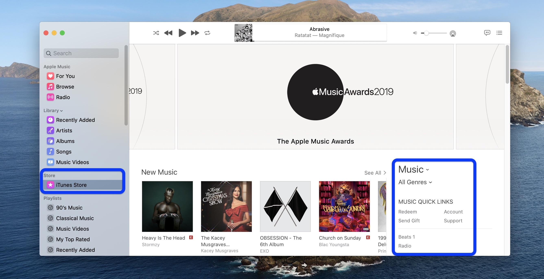 How to show iTunes Store Music app macOS Catalina walkthrough 2