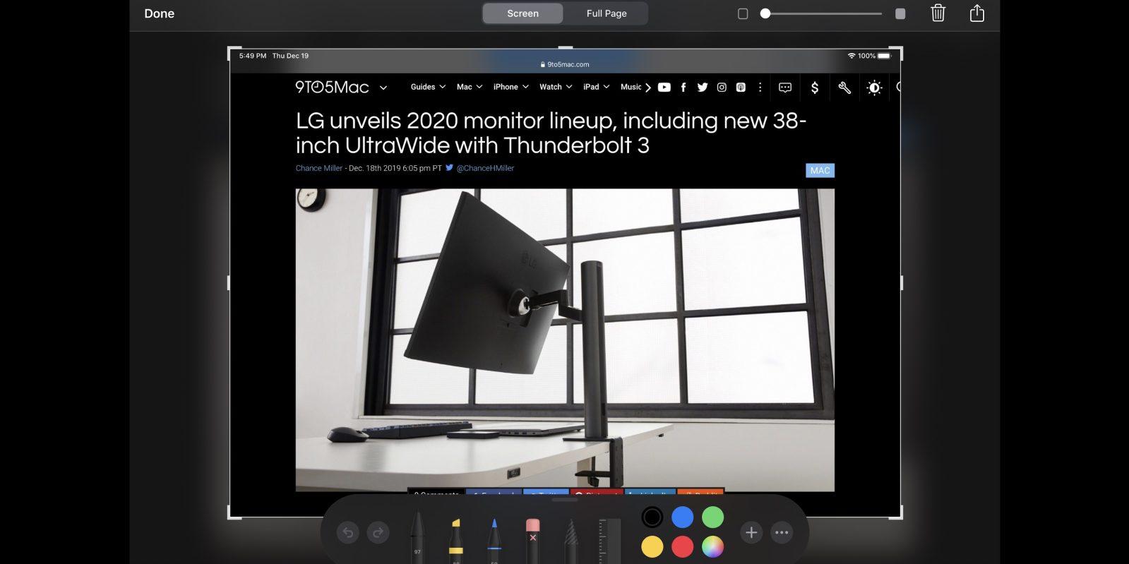 如何在 iPad 上使用 Apple Pencil 截图?