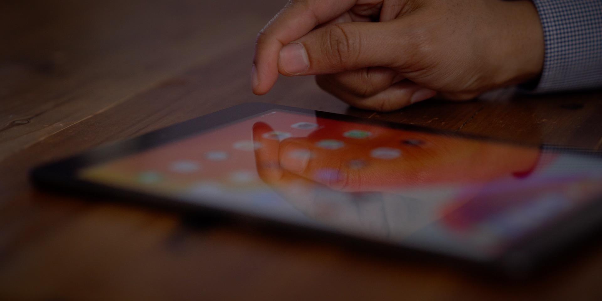 seventh-gen iPad non-laminated display