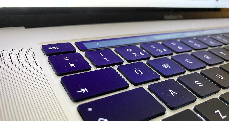 16-inch MacBook Pro review – keyboard