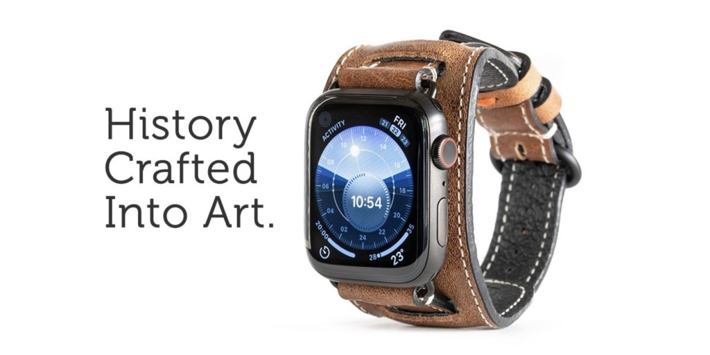 Pad & Quill's limited-run Lowry Cuff for Apple Watch is hand-made from 80-year-old leather