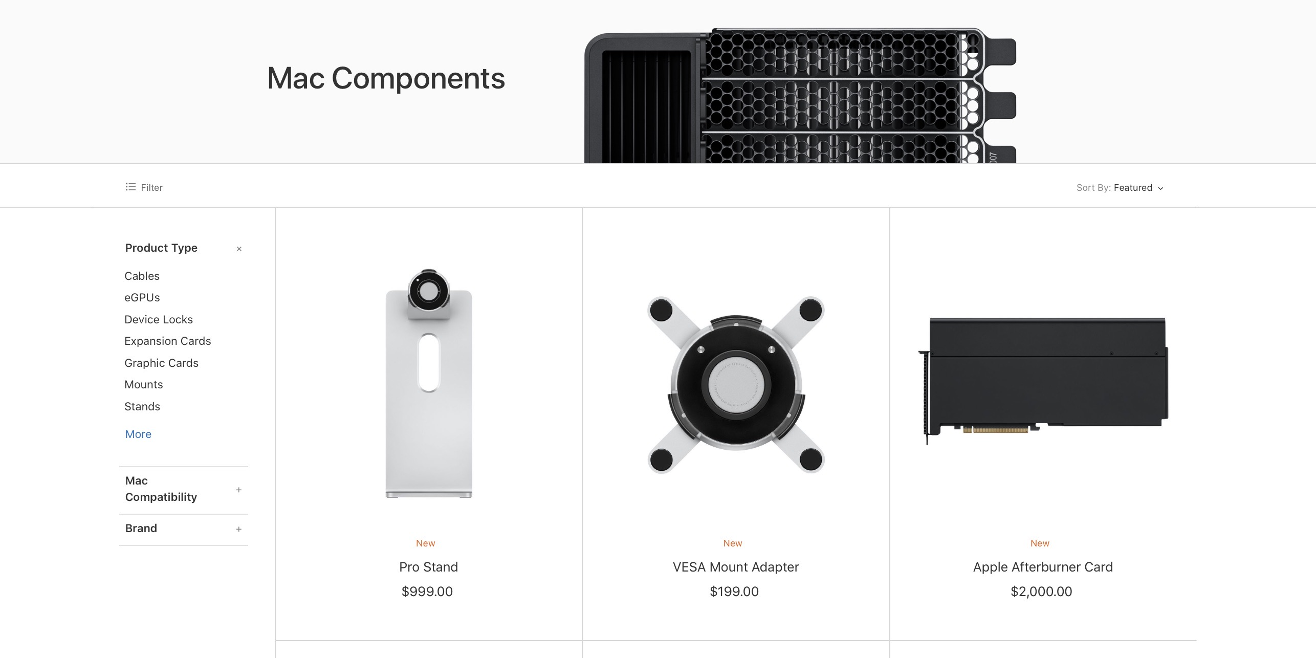 Mac Pro Accessories Details And Pricing On Storage And Gpu
