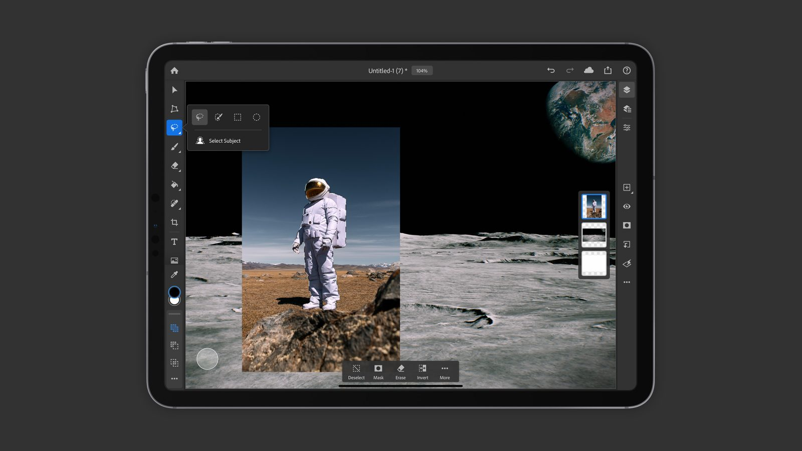 Adobe brings promised Select Subject feature to Photoshop on iPad