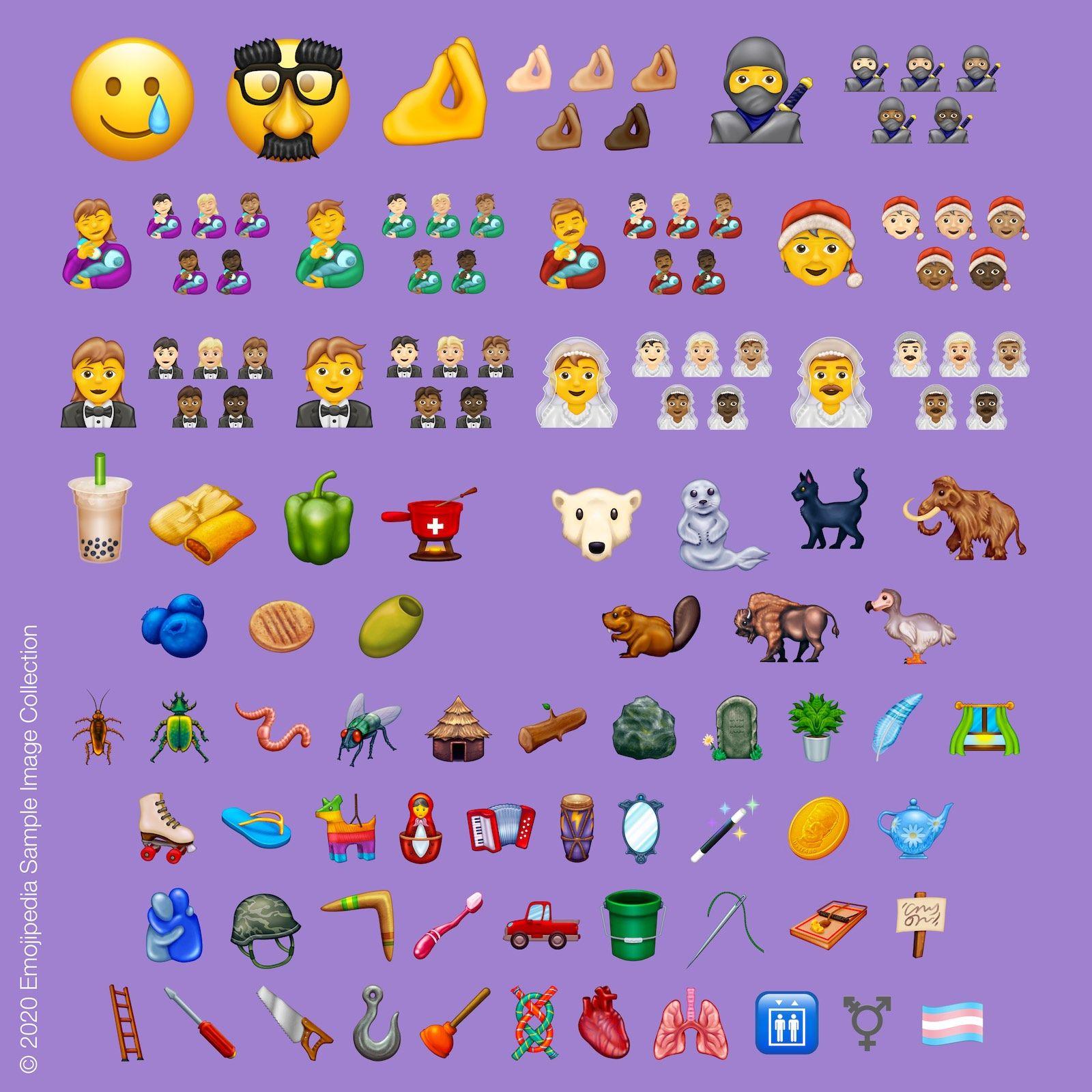 2020 new emoji iPhone iPad Mac more