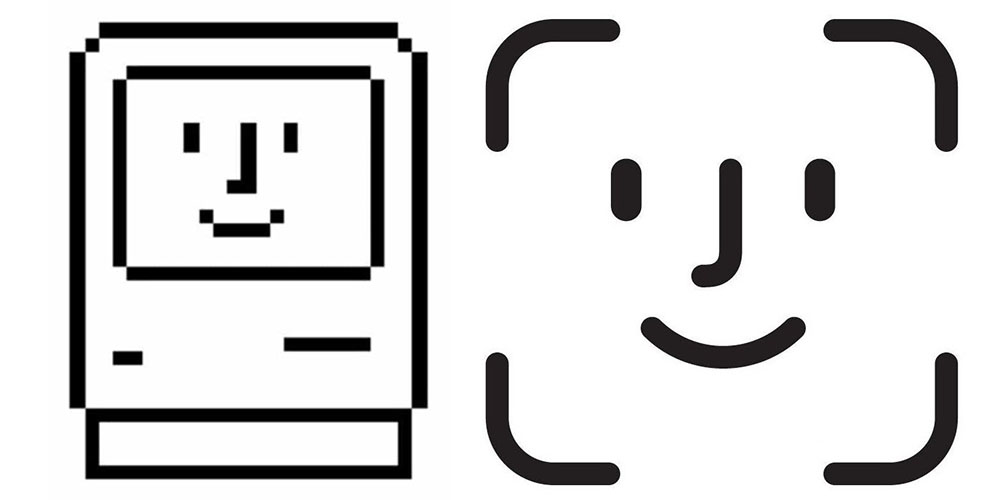 Macintosh and Face ID icons