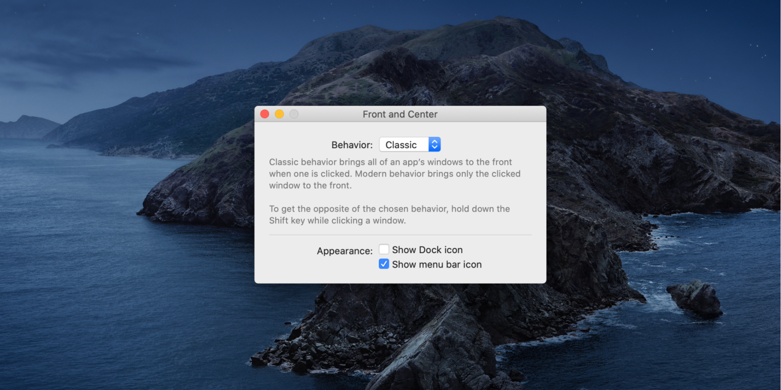 'Front and Center' brings classic Mac window management to macOS Catalina