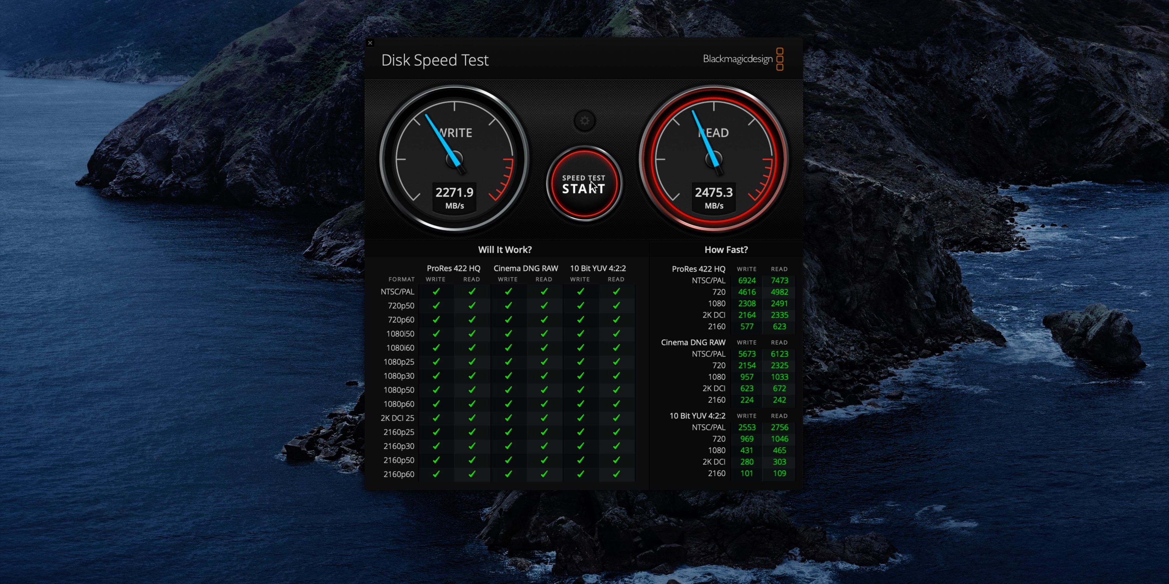 Glyph Atom Pro SSD speed test