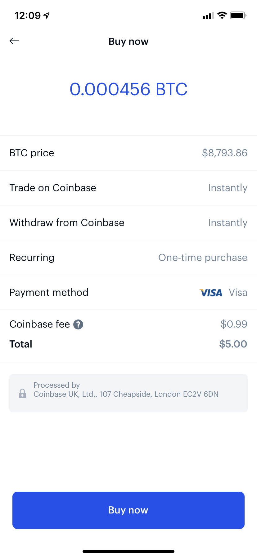 coinbase sell cryptocurrency