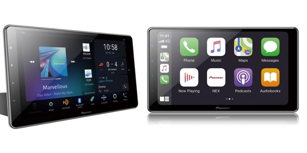 Pioneer's 2020 Wireless CarPlay lineup includes a premium 10.1-inch floating receiver for your old car